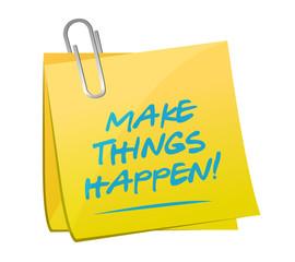 make things happen memo illustration