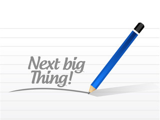 next big thing message illustration