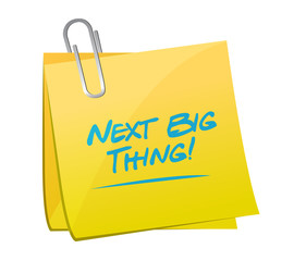 next big thing memo illustration design