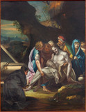 Padua - The paint of Burila of Jesus scene in Duomo