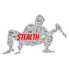 Stealth word cloud concept