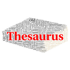 Thesaurus word cloud concept