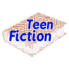 Teen fiction word cloud concept