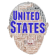 United states word cloud concept