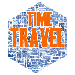Time travel word cloud concept