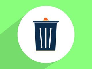 Trash bin ,Flat design style