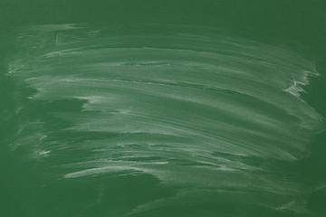 Blank green chalkboard