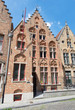 Bruges - Typicaly brick house on Moerstraat street