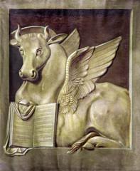 Padua - Paint of bull as symbol of st. Luke the Evangelist