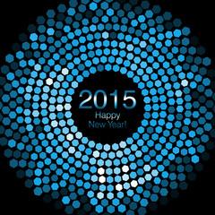 Happy New Year 2015 - Hexagon Disco lights