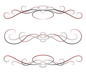 elements of design, calligraphy: vector set