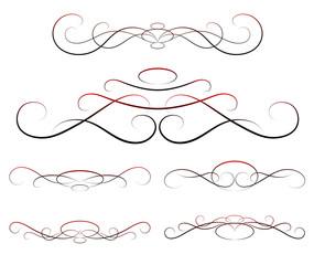 elements of design, calligraphy, vector set
