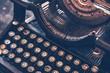 Leinwanddruck Bild - Antique Typewriter