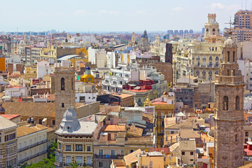 View on Valencia city from the tower.