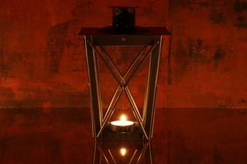 Laterne mit Kerze