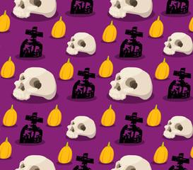 spooky halloween seamless pattern