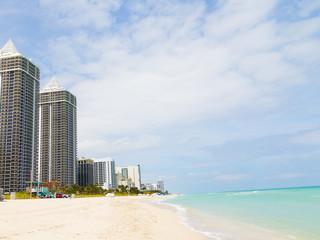 Ocean waterfront of Miami Beach, Florida.