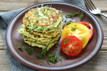 zucchini fritters with dill