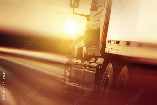 Leinwanddruck Bild Trucking Business Concept
