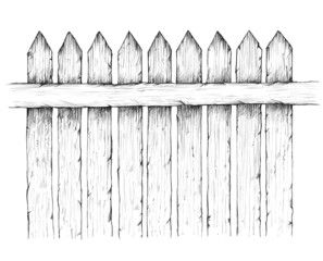 Einfacher Holzzaun