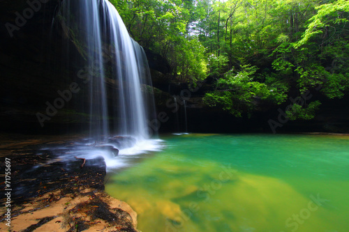 In de dag Watervallen Alabama Waterfall Landscape