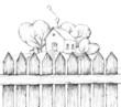 Traumhaus hinter Zaun