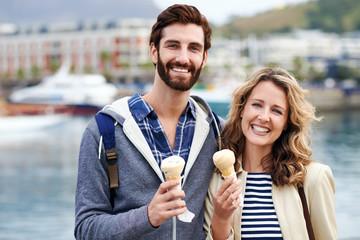 icecream couple fun