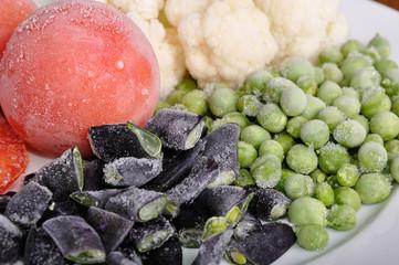 frozen tomato, asparagus, peas and cauliflower