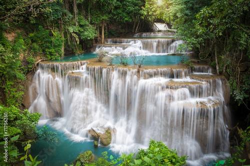 Obraz Thailand waterfall in Kanchanaburi (Huay Mae Kamin)