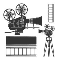 Cinema set, vector