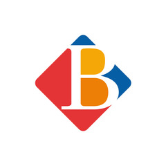 Vector color sign initial letter B