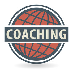 Abstract stamp or label with the text Coaching, vector