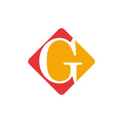 Vector color sign initial letter G