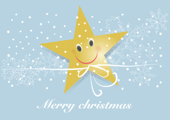 christmas star merry christmas ribbon