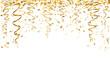 falling gold confetti - 71757069