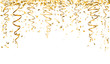falling gold confetti t-shirt