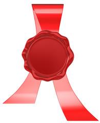 wax seal with ribbon