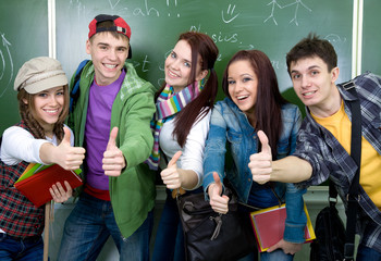group of students in classroom