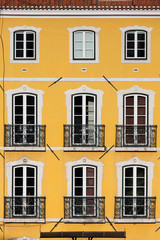 Building with Yellow Facade