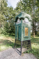 Old Wooden Phone Booth
