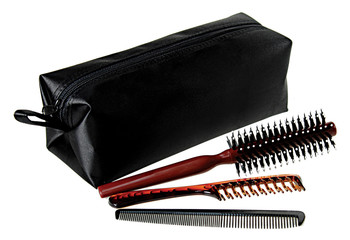 professional comb set in bag color black