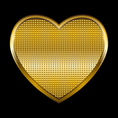 Vector illustration of a golden heart