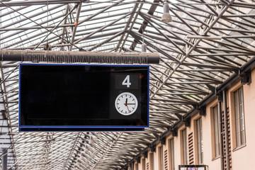 Info Board on Railway Station