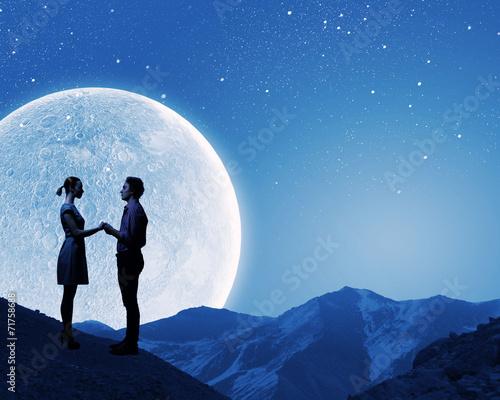 canvas print picture Romantic couple