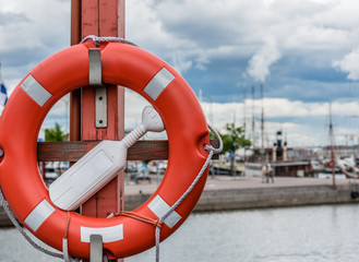 Life Ring in Harbour