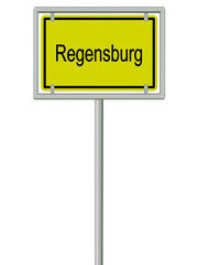 Regensburg - Ortsschild