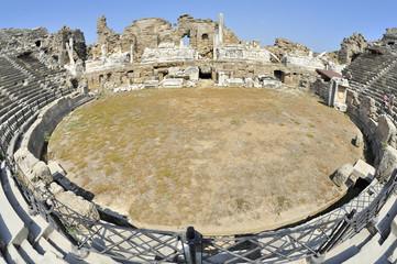 Turchia, antico teatro di  Side, costa di Antalya