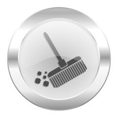 broom chrome web icon isolated