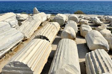 Turchia, antiche rovine di  Side, costa di Antalya