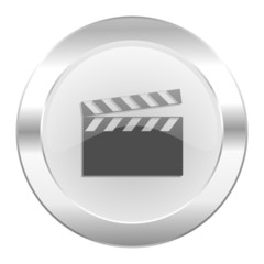 video chrome web icon isolated